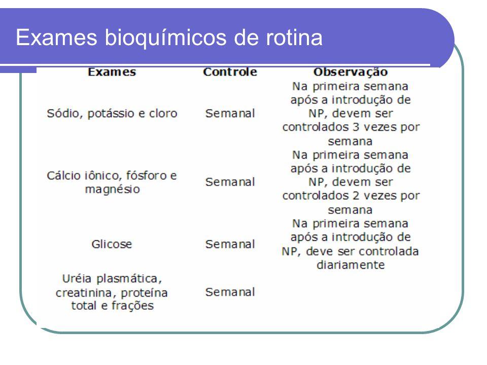 Exames bioquímicos de rotina