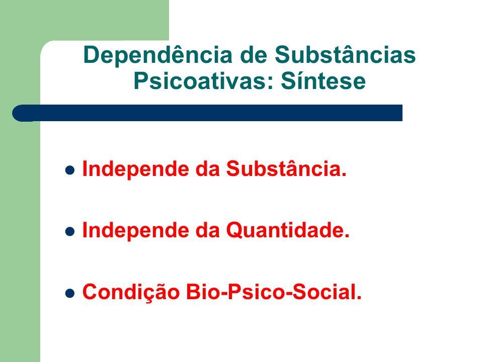 Dependência de Substâncias Psicoativas: Síntese Independe da Substância.