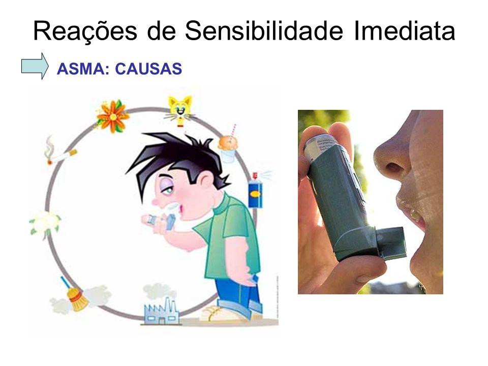 ASMA: CAUSAS Reações de Sensibilidade Imediata