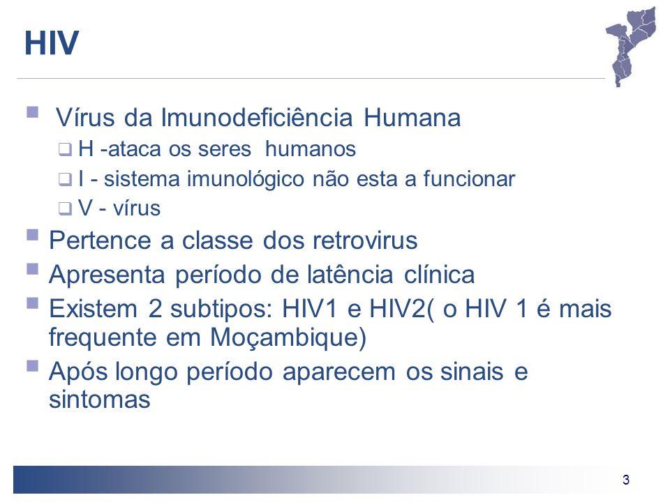 3 HIV Vírus da Imunodeficiência Humana H -ataca os seres humanos I - sistema imunológico não esta a funcionar V - vírus Pertence a classe dos retrovir