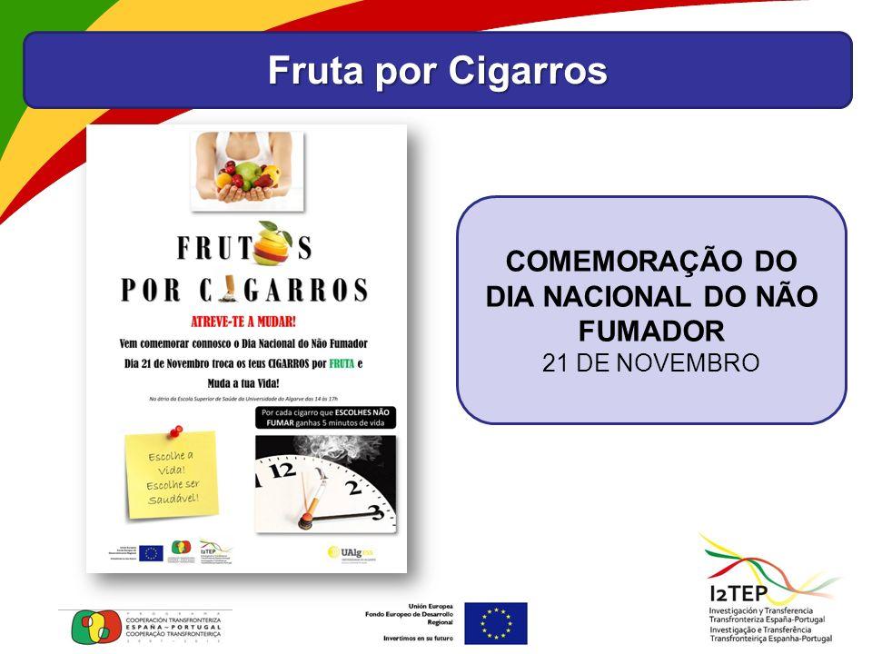 Fruta por Cigarros COMEMORAÇÃO DO DIA NACIONAL DO NÃO FUMADOR 21 DE NOVEMBRO