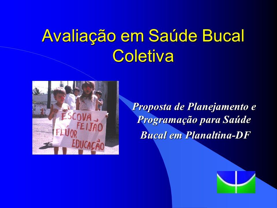 Avaliação em Saúde Bucal Coletiva VI Curso de Especialização em Odontologia em Saúde Coletiva Universidade de Brasília Faculdade de Ciências da Saúde