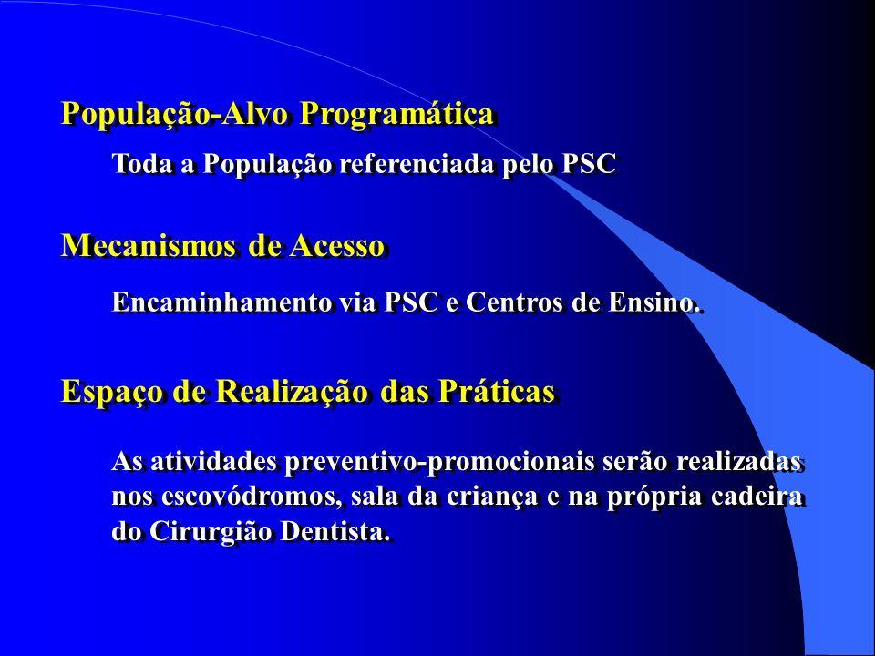 OBJETIVO ESPECÍFICO Oferecer à toda a população referenciada para os Centros de Saúde (via PSC) - durante o período do tratamento - orientações quanto