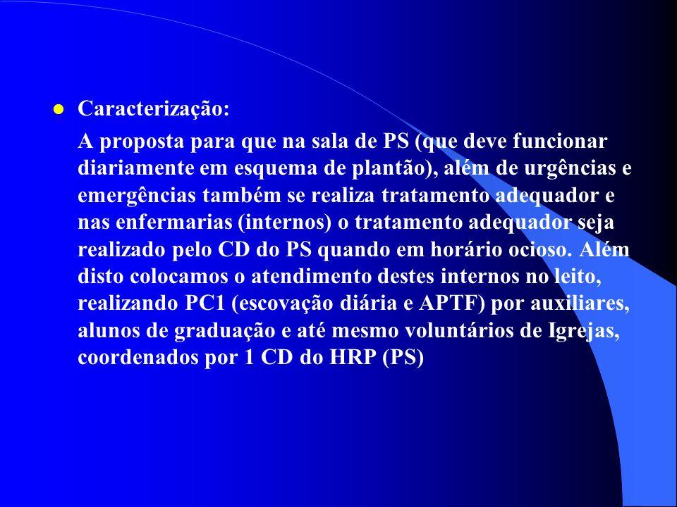 l Justificativa: A criação deste subprograma se justifica pela necessidade que se verifica pelos pacientes que procuram o PS e também dos internos do