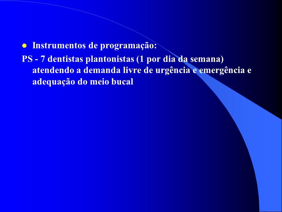 l Manutenção de equipamentos: Técnico da FHDF para o equipo do PS l Gerência de Informação, controle e avaliação: NNO l Capacitação e treinamento de r