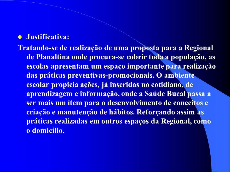4 - Subprograma de Atenção Preventivo- Promocional em Saúde Bucal nas Escolas Públicas e Privadas Escolas Públicas e Privadas Planaltina - DF