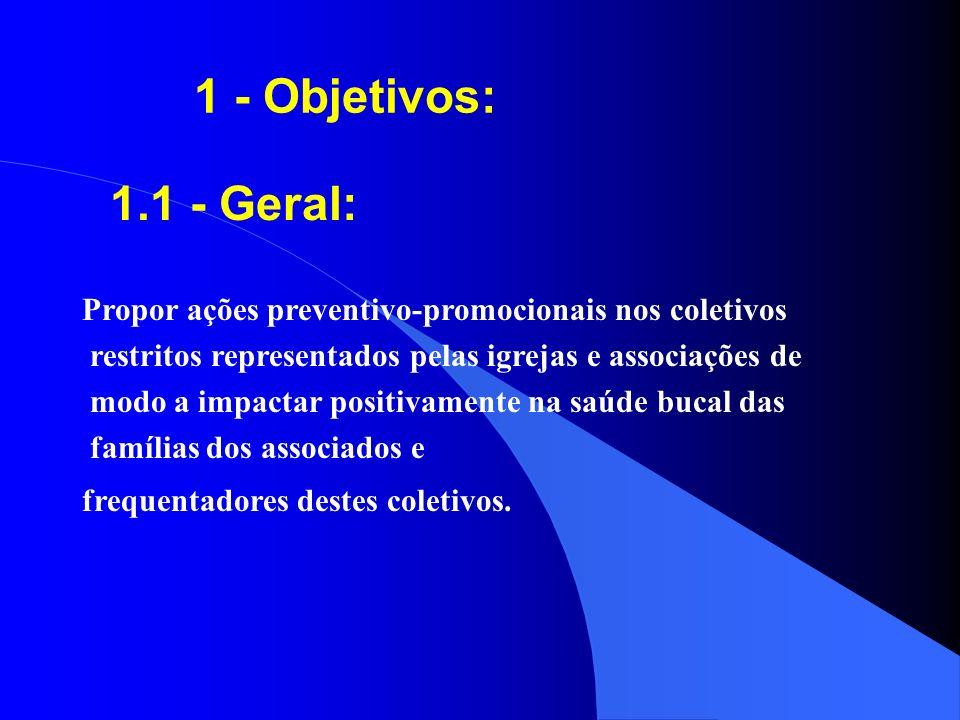 6 - Subprograma de Atenção Preventivo- Promocional em Saúde Bucal nas Igrejas e Associações: