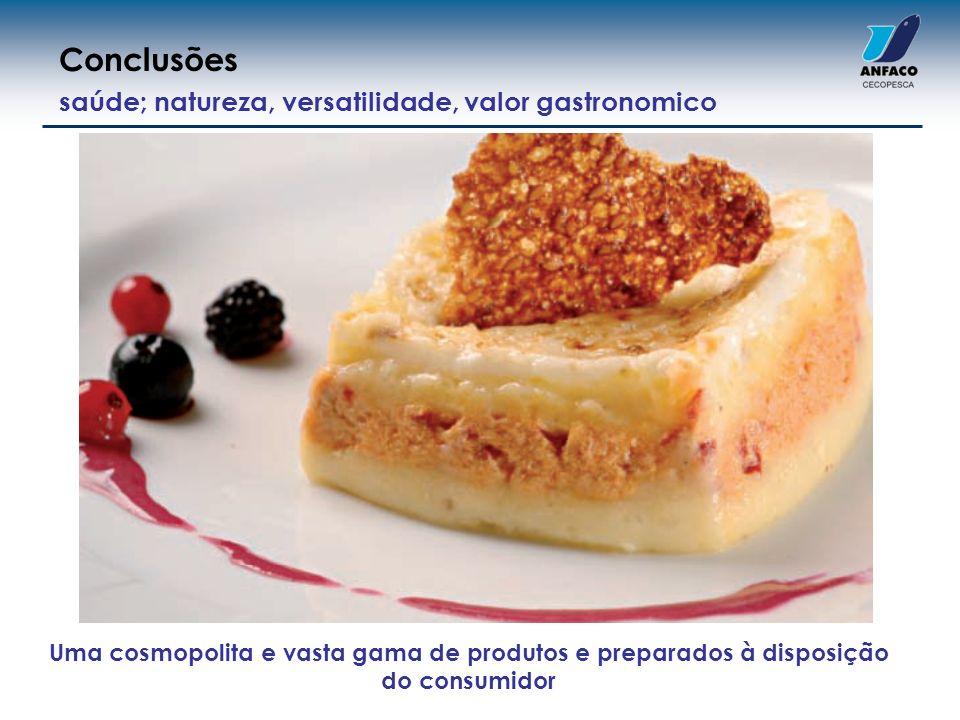 Uma cosmopolita e vasta gama de produtos e preparados à disposição do consumidor saúde; natureza, versatilidade, valor gastronomico Conclusões