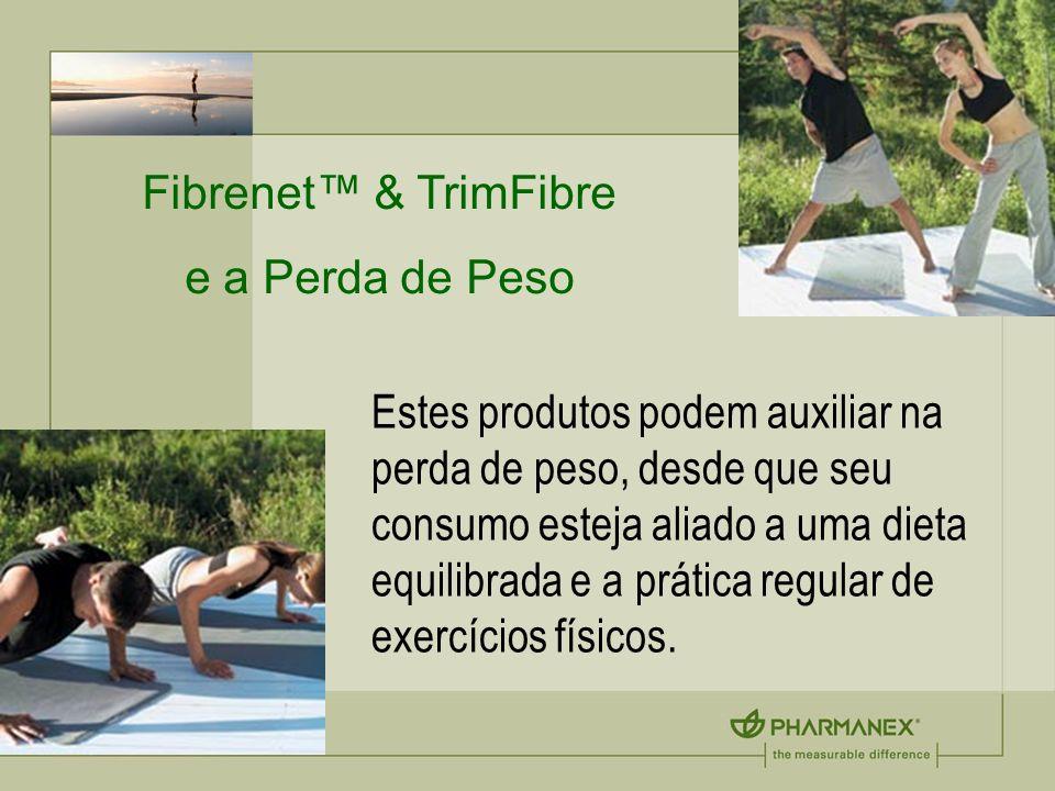 Fibrenet & TrimFibre e a Perda de Peso Estes produtos podem auxiliar na perda de peso, desde que seu consumo esteja aliado a uma dieta equilibrada e a