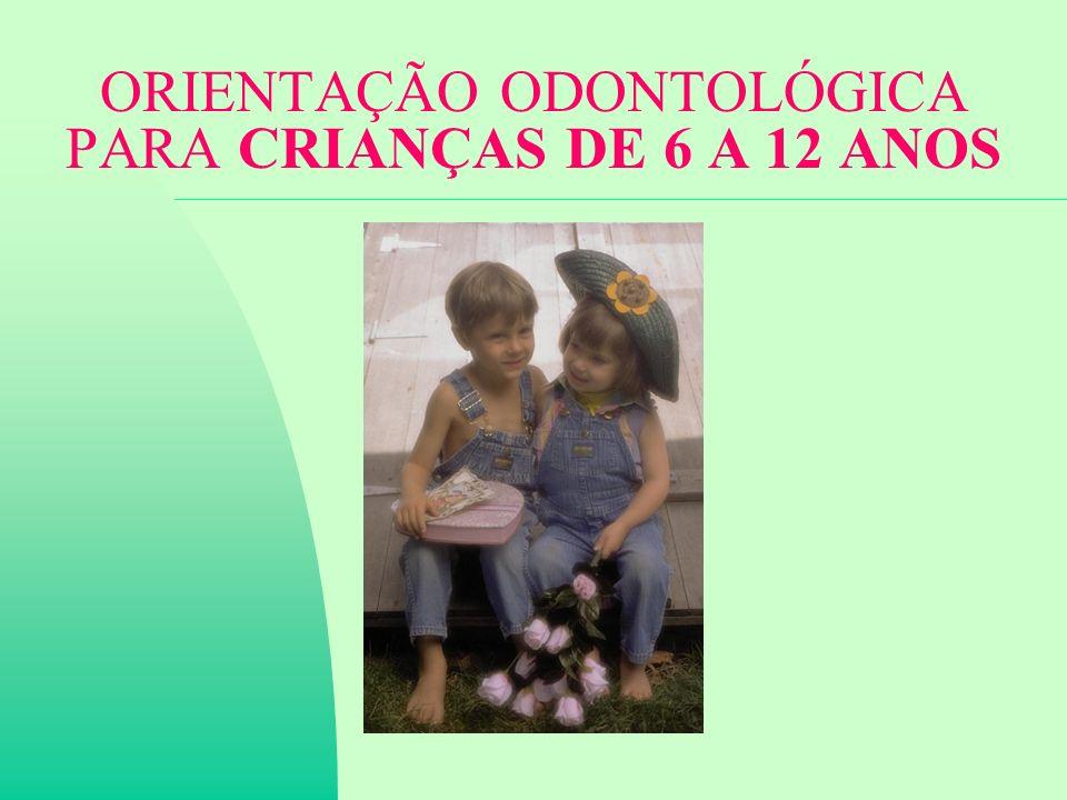 ORIENTAÇÃO ODONTOLÓGICA PARA CRIANÇAS DE 6 A 12 ANOS