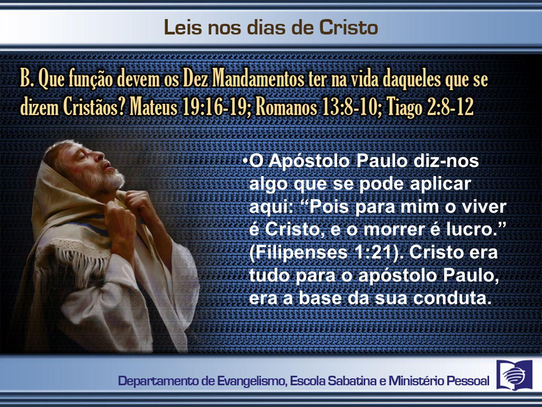 O Apóstolo Paulo diz-nos algo que se pode aplicar aqui: Pois para mim o viver é Cristo, e o morrer é lucro. (Filipenses 1:21). Cristo era tudo para o