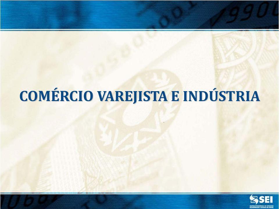 Fonte: IBGE / PMC COMÉRCIO VAREJISTA - VOLUME DE VENDAS (Jan. Mar./ 2012) / (Jan. Mar./ 2011)