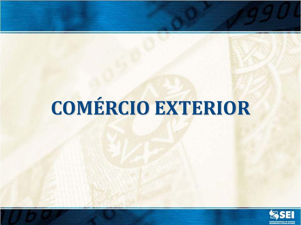 Fonte: MDIC/Secex EXPORTAÇÕES BAIANAS US$ 2,6 bilhões Jan./ Mar.