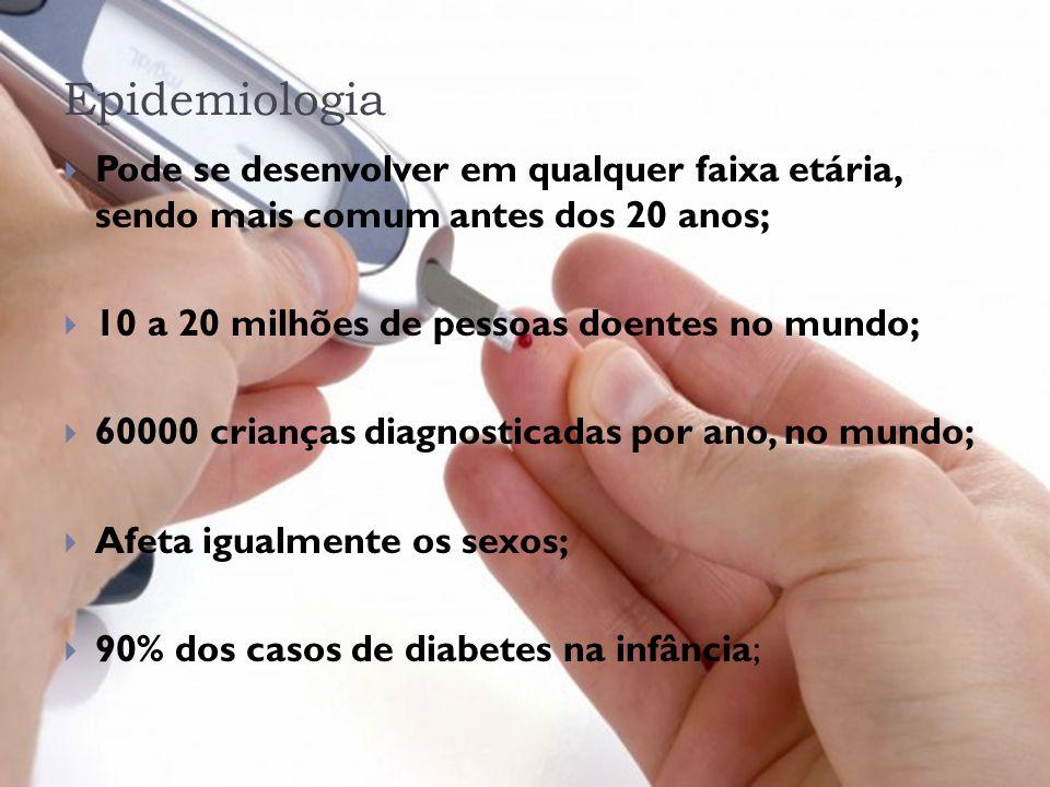 Tratamento -Dietas; -Administração de insulina de ação lenta ou rápida; -Estilo de vida saudável; -Transplante de Ilhotas de Langerhans; -Exercícios;