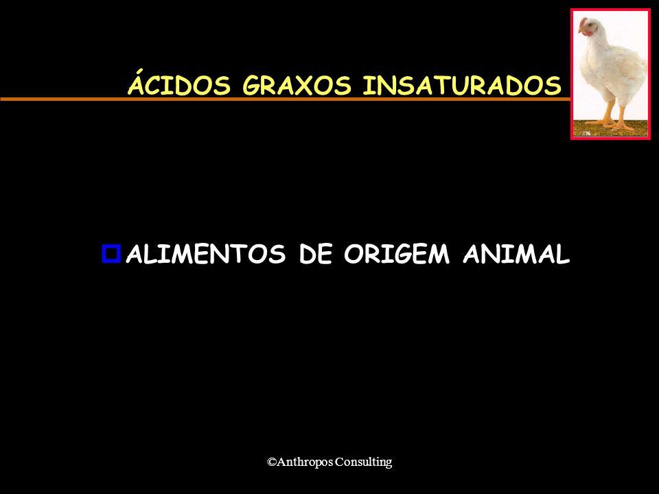 ©Anthropos Consulting ÁCIDOS GRAXOS INSATURADOS pALIMENTOS DE ORIGEM ANIMAL