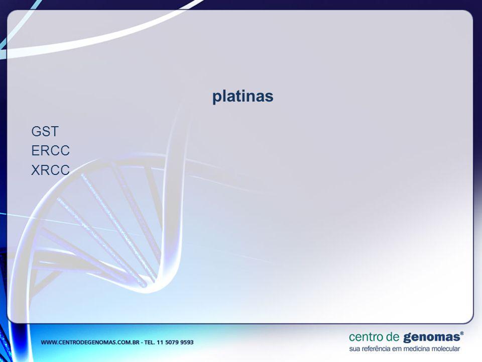 platinas GST ERCC XRCC