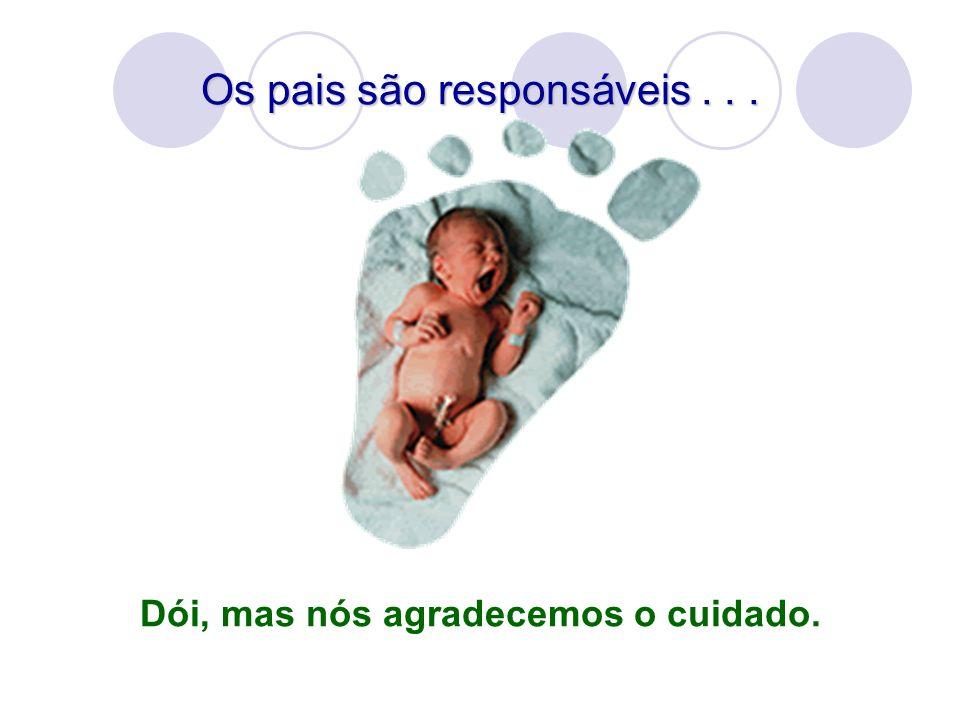 Os pais são responsáveis... Dói, mas nós agradecemos o cuidado.