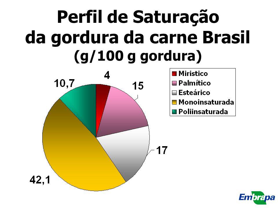 Perfil de Saturação da gordura da carne Brasil (g/100 g gordura)