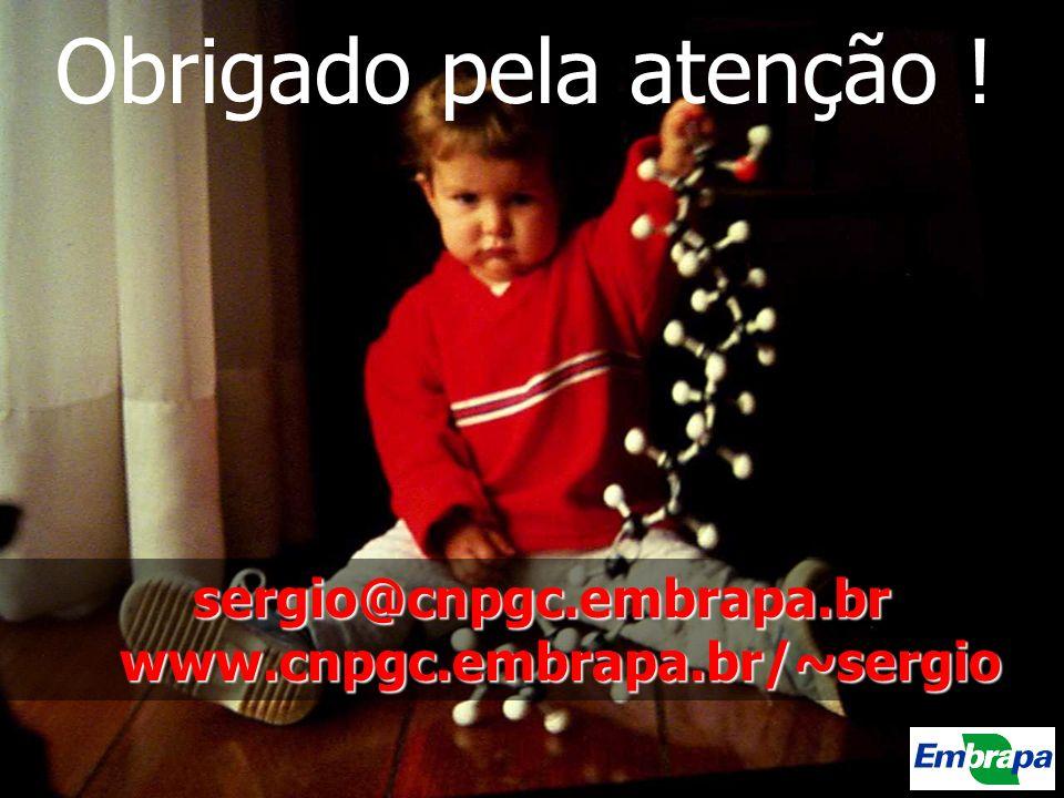 sergio@cnpgc.embrapa.br www.cnpgc.embrapa.br/~sergio Obrigado pela atenção !