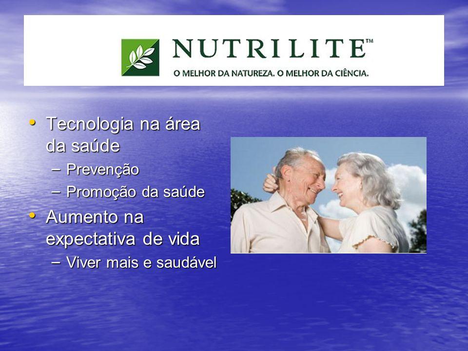 Tecnologia na área da saúde Tecnologia na área da saúde – Prevenção – Promoção da saúde Aumento na expectativa de vida Aumento na expectativa de vida