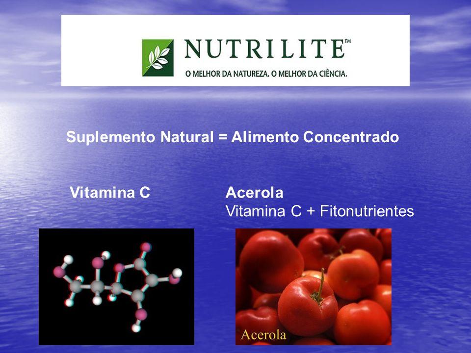 Suplemento Natural = Alimento Concentrado Vitamina CAcerola Vitamina C + Fitonutrientes