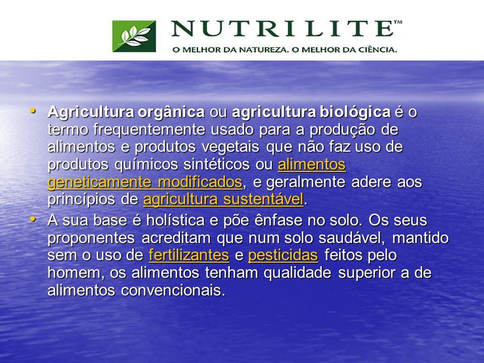 Agricultura orgânica ou agricultura biológica é o termo frequentemente usado para a produção de alimentos e produtos vegetais que não faz uso de produ