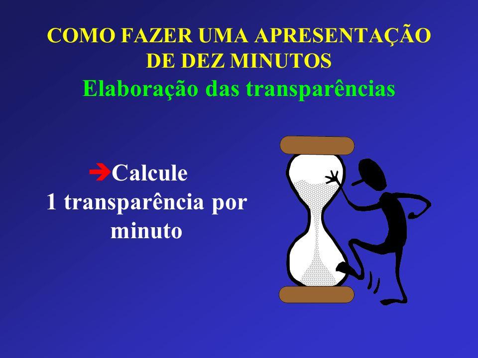 è Calcule 1 transparência por minuto