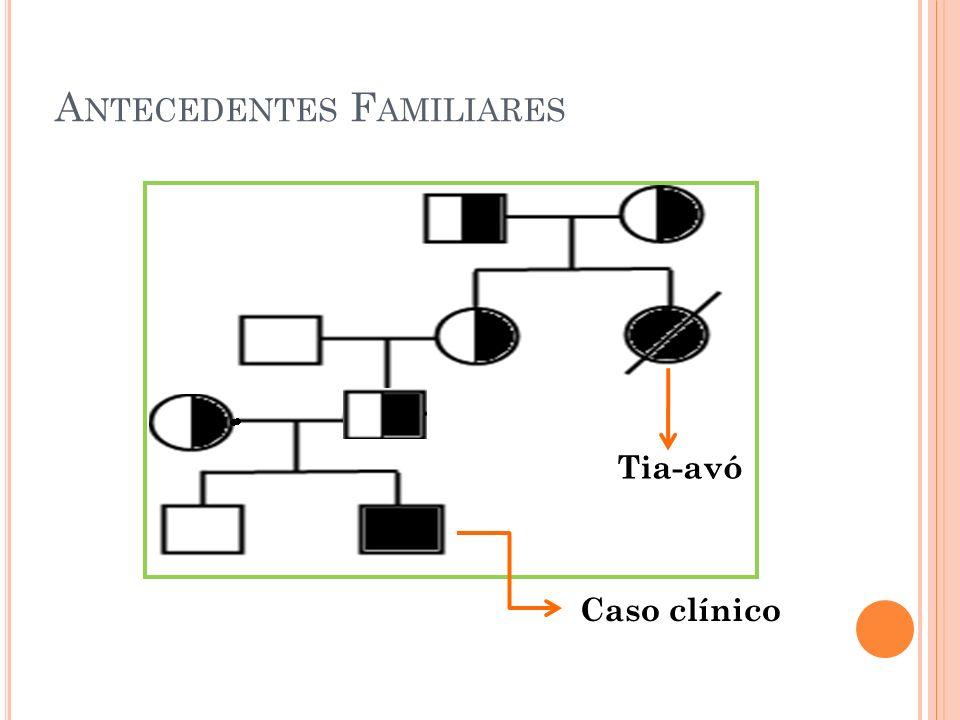 A NTECEDENTES F AMILIARES Caso clínico Tia-avó