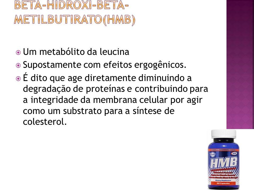 Um metabólito da leucina Supostamente com efeitos ergogênicos.