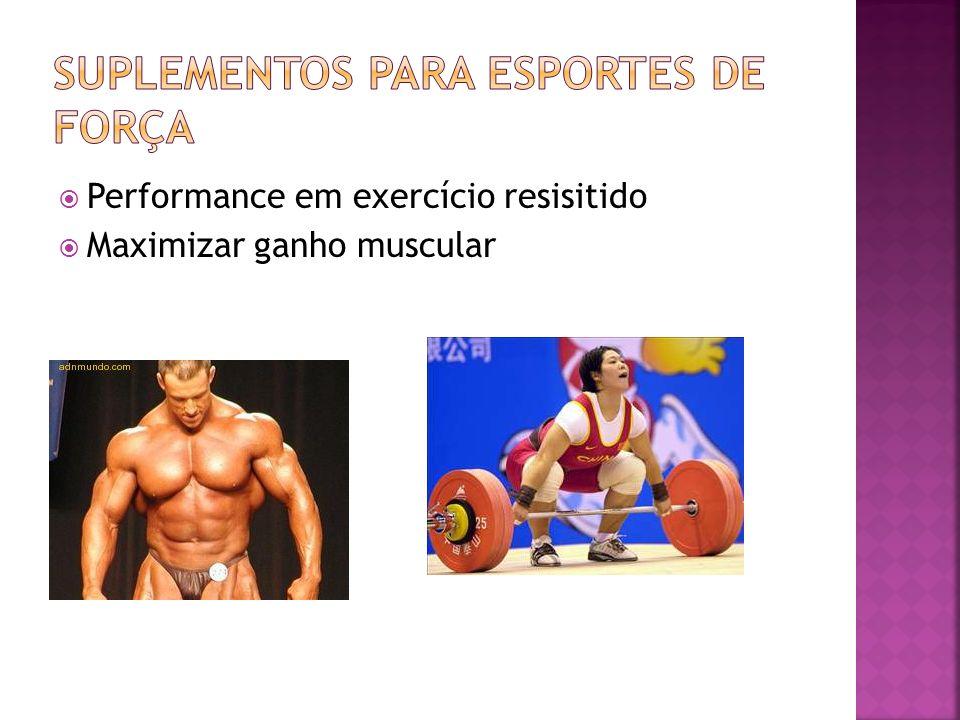 Performance em exercício resisitido Maximizar ganho muscular
