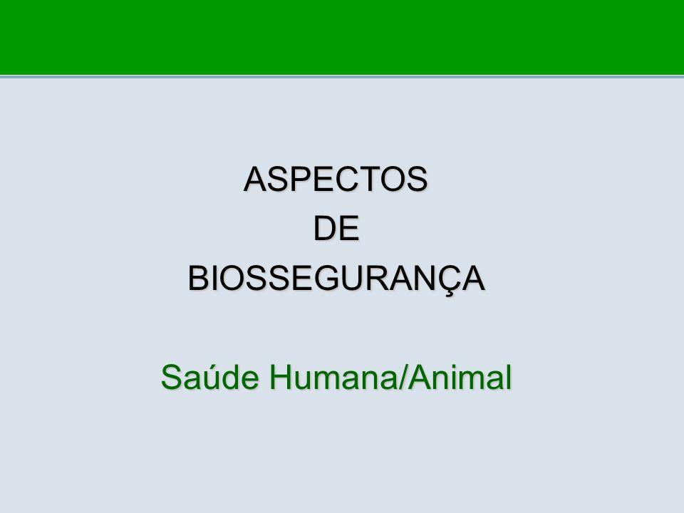 ASPECTOSDEBIOSSEGURANÇA Saúde Humana/Animal