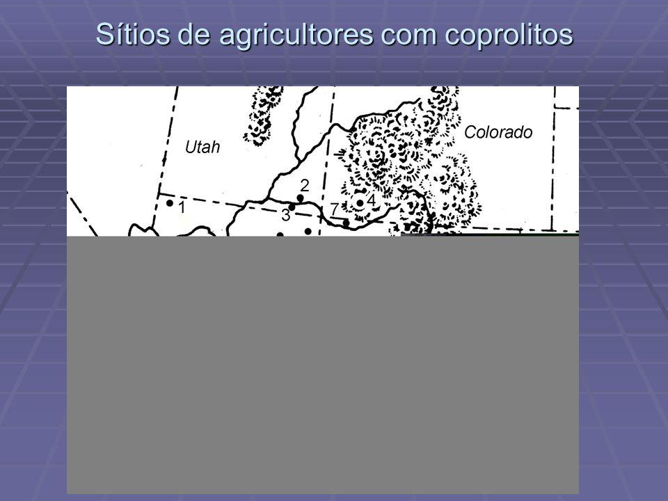 Sítios de agricultores com coprolitos