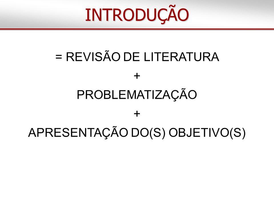 CONCLUSÃO(ÕES) Deve(m) responder ao(s) objetivo(s), considerando os resultados encontrados e o estado da arte Deve(m) ser objetiva(s) e consistente(s)