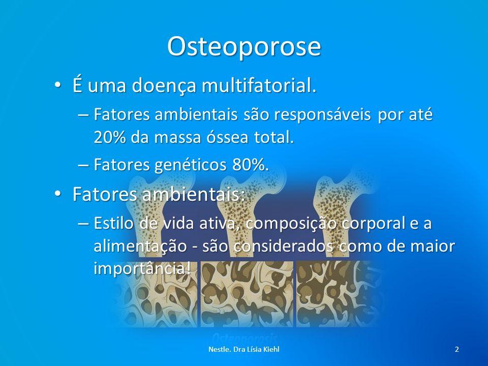 Osteoporose É uma doença multifatorial.É uma doença multifatorial.