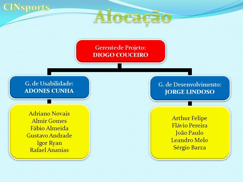 Gerente de Projeto: DIOGO COUCEIRO Gerente de Projeto: DIOGO COUCEIRO G.