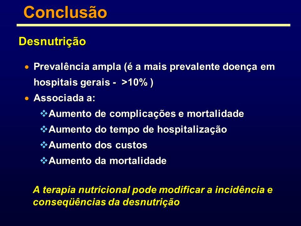 Prevalência ampla (é a mais prevalente doença em hospitais gerais - >10% ) Prevalência ampla (é a mais prevalente doença em hospitais gerais - >10% )
