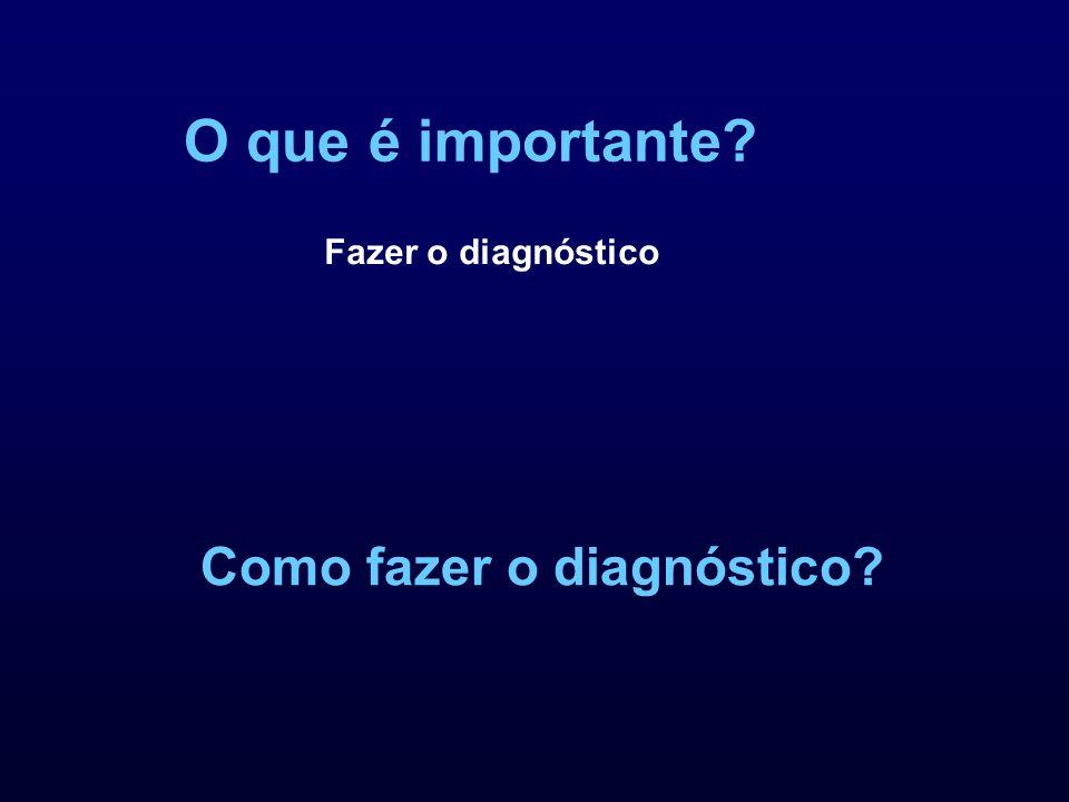 O que é importante? Como fazer o diagnóstico? Fazer o diagnóstico