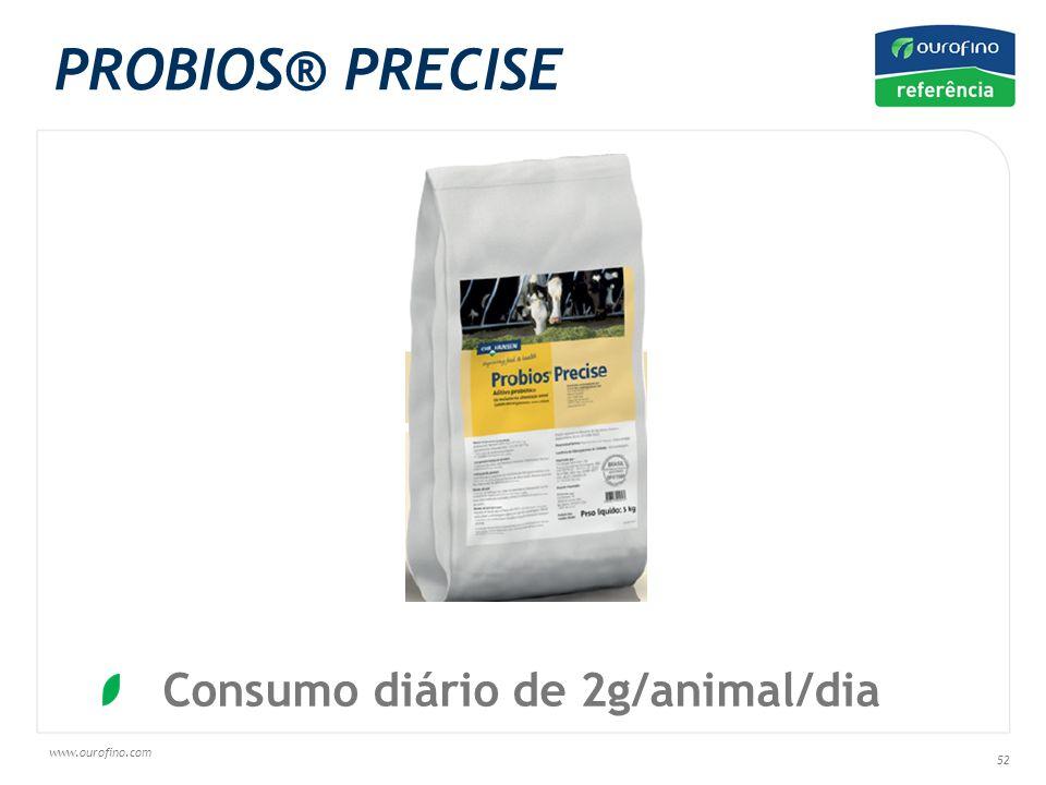 www.ourofino.com 52 Consumo diário de 2g/animal/dia PROBIOS® PRECISE