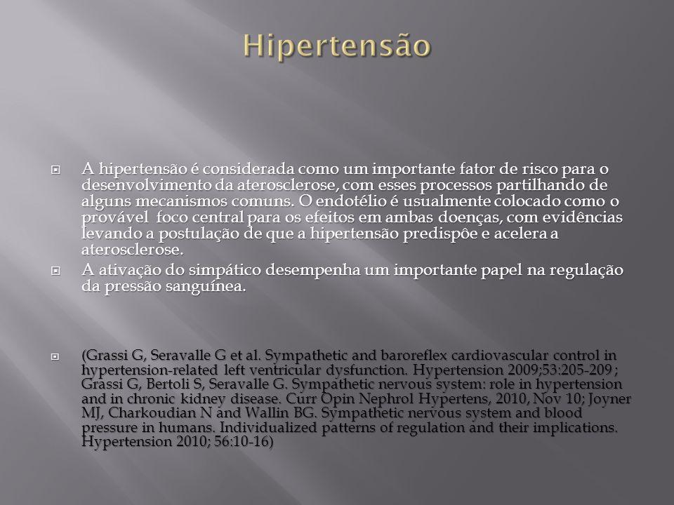 A hipertensão é considerada como um importante fator de risco para o desenvolvimento da aterosclerose, com esses processos partilhando de alguns mecan