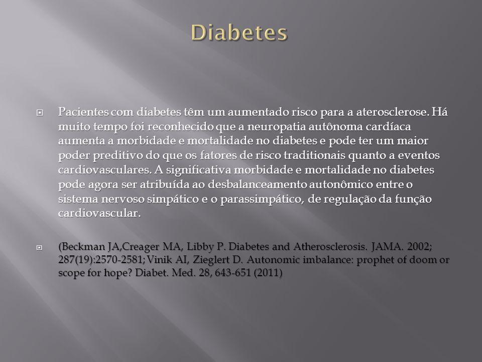 Pacientes com diabetes têm um aumentado risco para a aterosclerose. Há muito tempo foi reconhecido que a neuropatia autônoma cardíaca aumenta a morbid