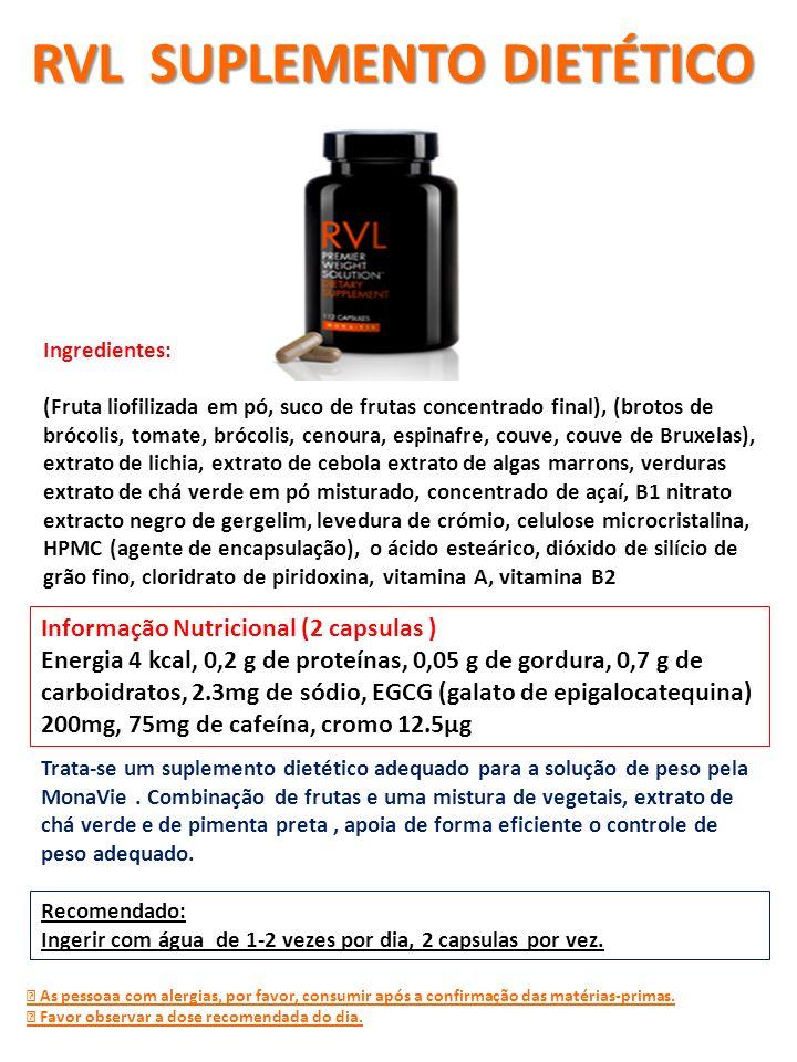 Trata-se um suplemento dietético adequado para a solução de peso pela MonaVie. Combinação de frutas e uma mistura de vegetais, extrato de chá verde e