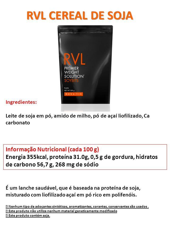 Informação Nutricional (cada 100 g) Energia 355kcal, proteína 31.0g, 0,5 g de gordura, hidratos de carbono 56,7 g, 268 mg de sódio Nenhum tipo de adoç