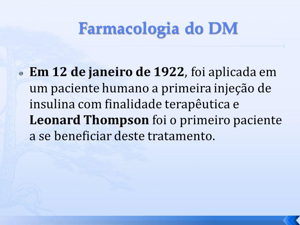 Em 12 de janeiro de 1922, foi aplicada em um paciente humano a primeira injeção de insulina com finalidade terapêutica e Leonard Thompson foi o primei