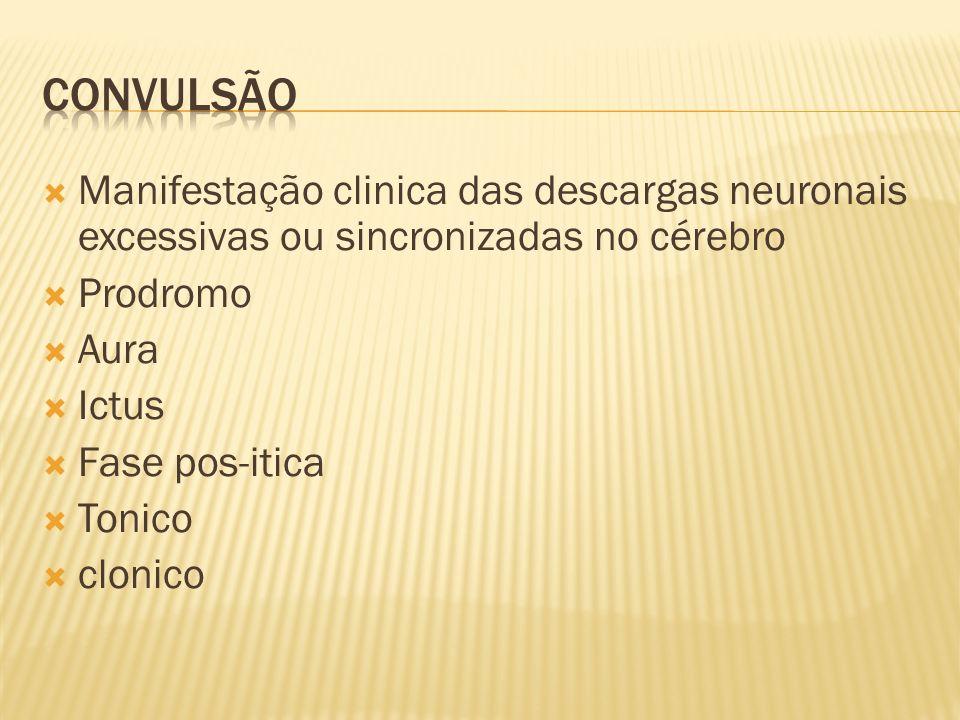 Convulsão generalizada: descargas elétricas que afetam bilateralmente o cérebro.