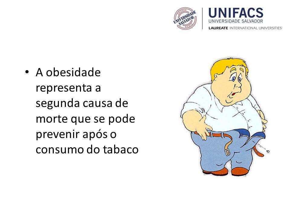 A obesidade representa a segunda causa de morte que se pode prevenir após o consumo do tabaco