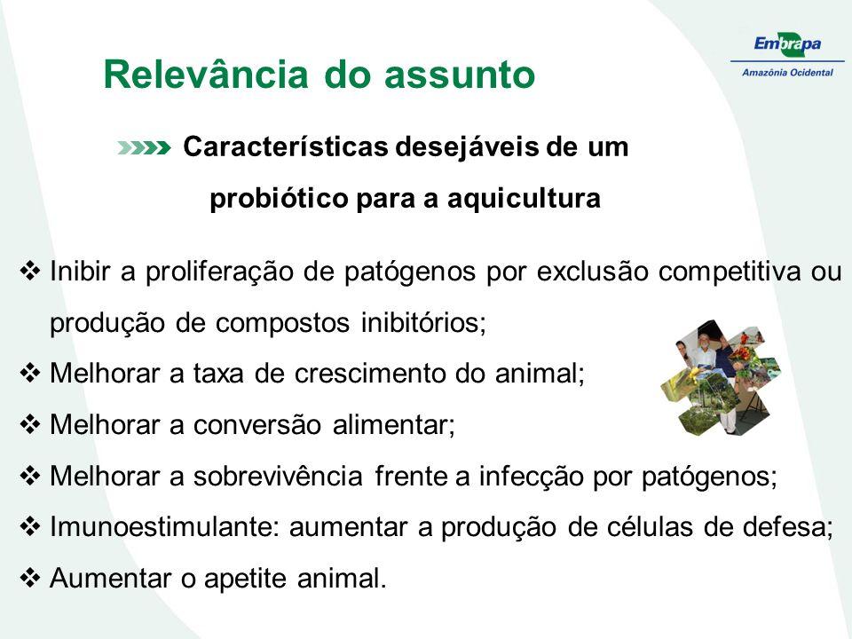 Inibir a proliferação de patógenos por exclusão competitiva ou produção de compostos inibitórios; Melhorar a taxa de crescimento do animal; Melhorar a