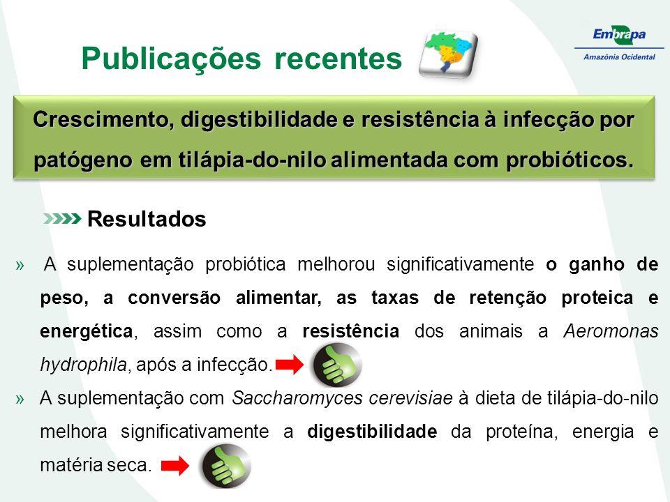 Publicações recentes Crescimento, digestibilidade e resistência à infecção por patógeno em tilápia-do-nilo alimentada com probióticos. Resultados » A