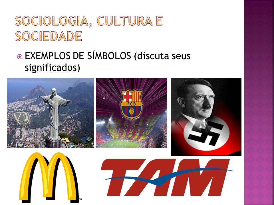 EXEMPLOS DE SÍMBOLOS (discuta seus significados)