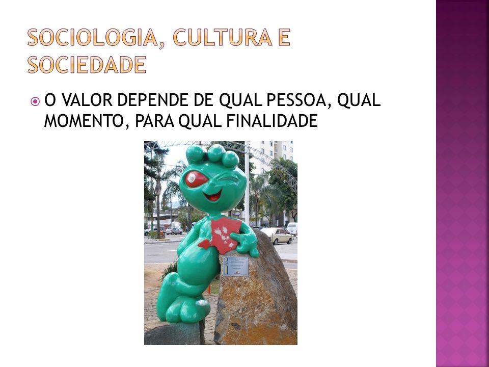 O VALOR DEPENDE DE QUAL PESSOA, QUAL MOMENTO, PARA QUAL FINALIDADE