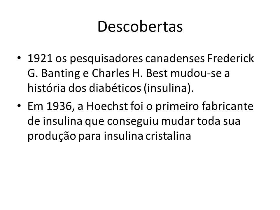 Descobertas 1921 os pesquisadores canadenses Frederick G.